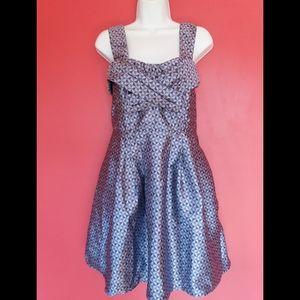 New eShakti Jacquard Geo Print Dress